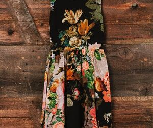 dress, floral, and flower image