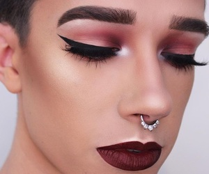 aesthetic, eyebrows, and james charles image