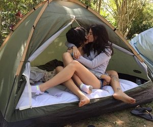 camping, couples, and love image