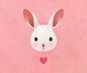 pink, bunny, and heart image