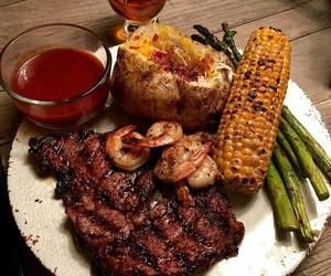 food, steak, and yummy image