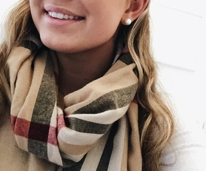 blonde, Burberry, and scarf image