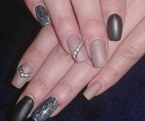 glitter, nails, and strass image