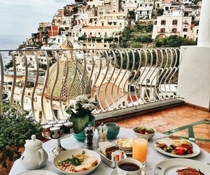 food, brakfast, and town image