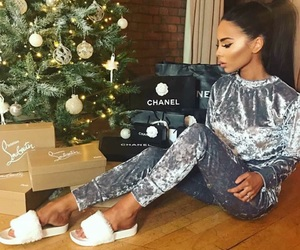 girl, christmas, and chanel image