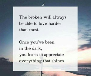 quotes, broken, and dark image