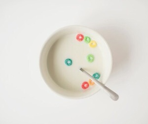 cereal, white, and food image