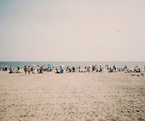 beach, people, and summer image