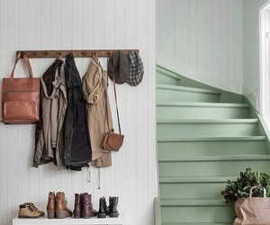 coat rack, home decor, and mint green image