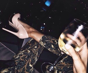 heels, shoes, and drink image