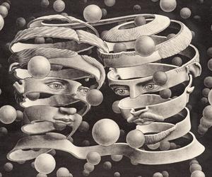 art, escher, and M.C. Escher image