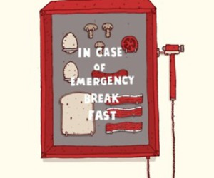 breakfast, emergency, and funny image