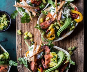 food, avocado, and salad image