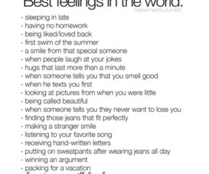 text and best feelings image