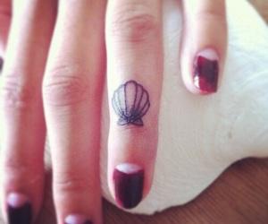 seashells, tattoo, and cute image