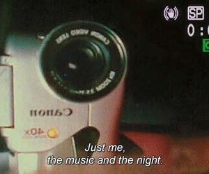 music, quotes, and night image