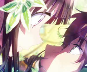 anime, hyouka, and flowers image