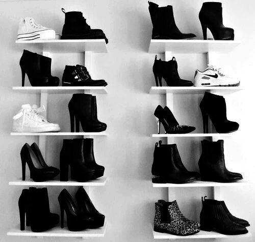 black, shoes, and style image