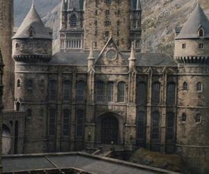 harry potter, hogwarts, and castle image