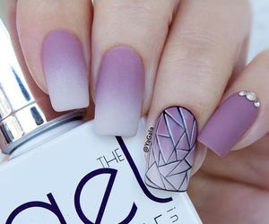 nails, beauty, and ombre image