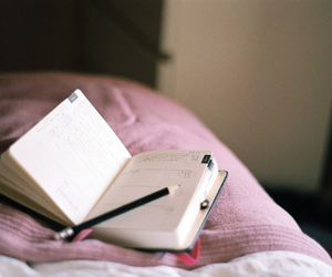 bedroom, diary, and girl image