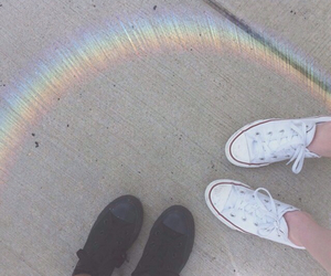 rainbow and tumblr image