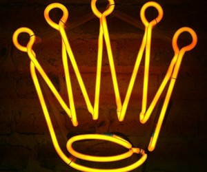 crown, neon, and yellow image
