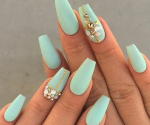nails, nail art, and beauty image