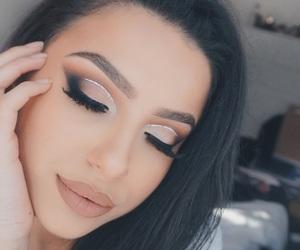 eyeshadow, girl, and glitter image