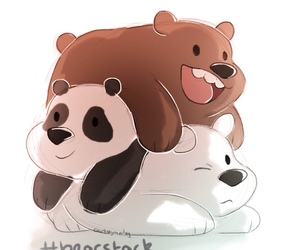 panda, osos, and we bare bears image