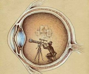 heart, art, and eye image