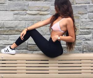 fitness, style, and adidas image