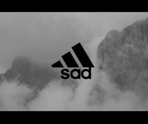 adidas, grunge, and sad image