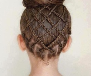 braids, brown hair, and hairstyle image