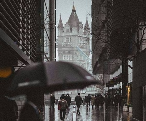 london, rain, and uk image