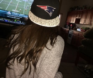 fan, football, and girl image