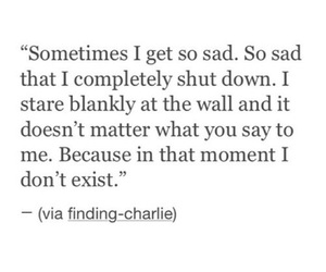 quote, sad, and thoughts image
