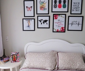 bed, decor, and heart image
