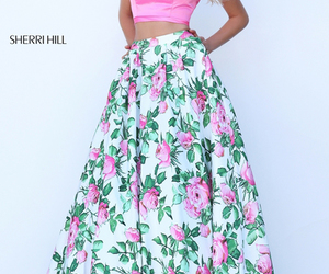 sherri hill 50448 and floral prom dress image