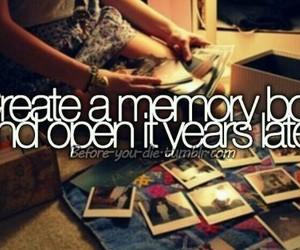 memories, bucket list, and before i die image