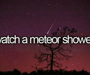 meteor, night, and stars image