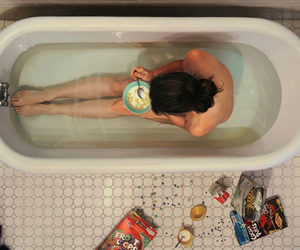 bath, food, and bathroom image