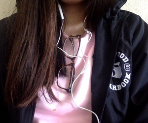 apple, baby pink, and black image