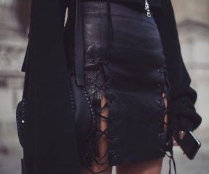 beauty, black, and leather image