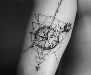 clock, compass, and tatto image