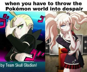 pokemon, danganronpa, and sun and moon image