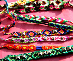 hippie and friendship bracelets image
