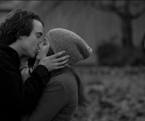 if i stay, kiss, and couple image