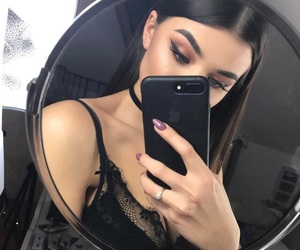 brunettes, eyebrow goals, and chokers image