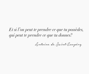 french, quote, and saint exupery image